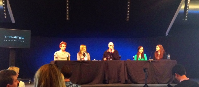 The Question Time Pannel: Will Peach, Carol Driver, Kevin May, Ruth Haffenden and Jodi Ettenberg