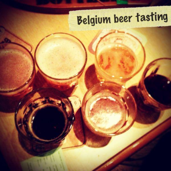Belgium beer tasting