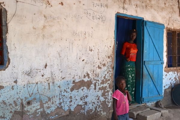 Home in a rural Gambian village