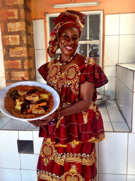 Fish Benachin. Cooking with Ida in The Gambia
