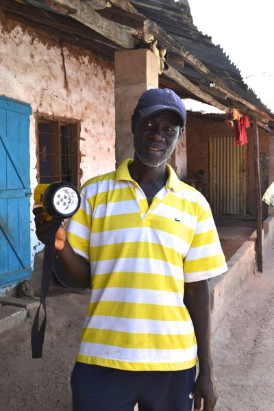 Solar powered torches in The Gambia