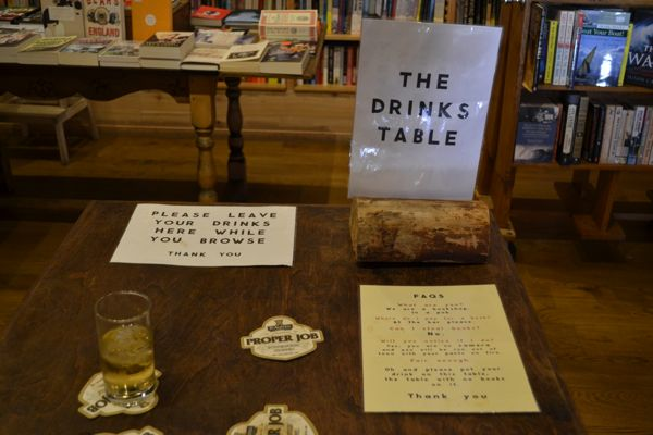 the drinks table