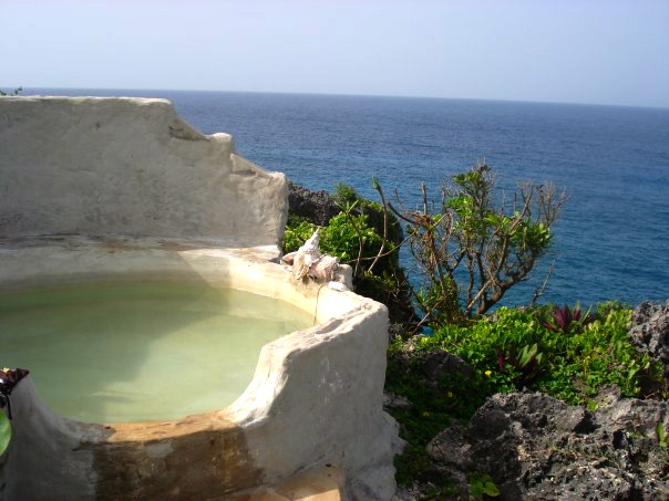 Our cliff-top bath