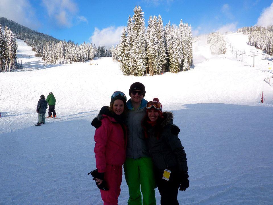 Skiing at sun peaks