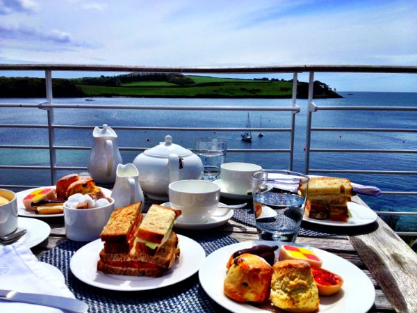 afternoon tea at Hotel Tresanton
