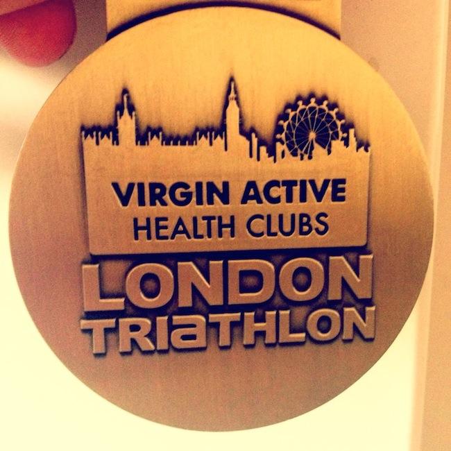london triathlon medal