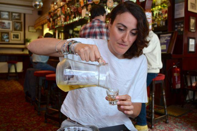 Beer tasting at Pride of Spitalfields