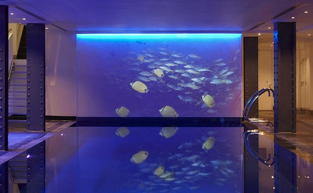 swimming pool at One Aldwych, London