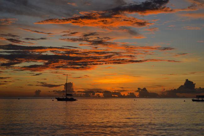 Beautiful sunset in Barbados