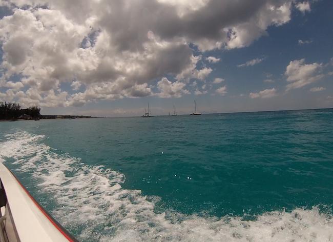 Speedboat in Barbados