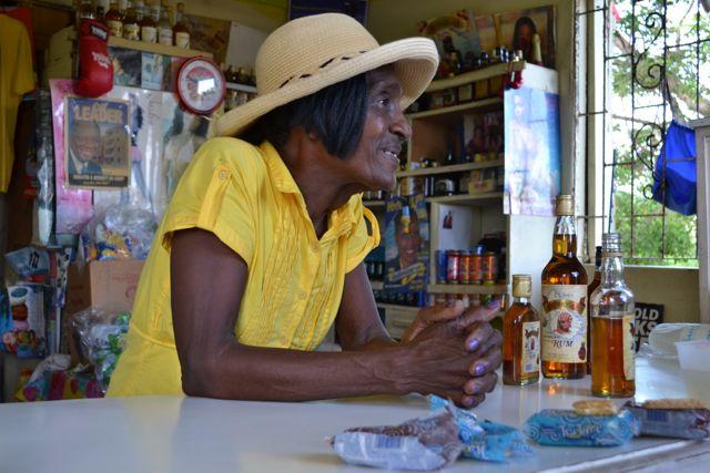 Barbados Aunty's rum bar