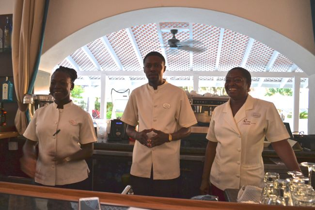 Friendly bar staff at Colony Club Barbados