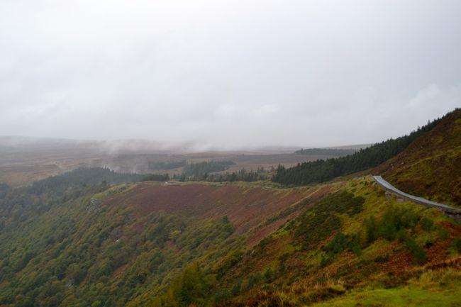 Misty roads in Ireland