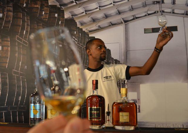 Rum tasting in Barbados
