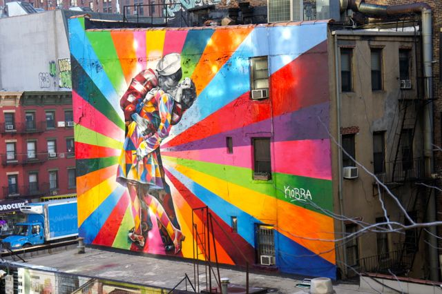 Street art from the the High Line New York