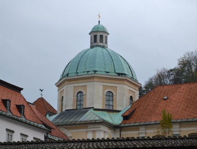 Cathedral dome in Ljubljana
