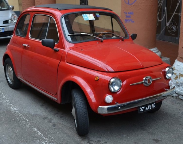Cute little car in Bologna