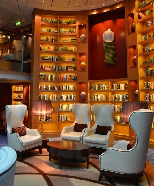 Celebrity Equinox: Library | The library on board the ...