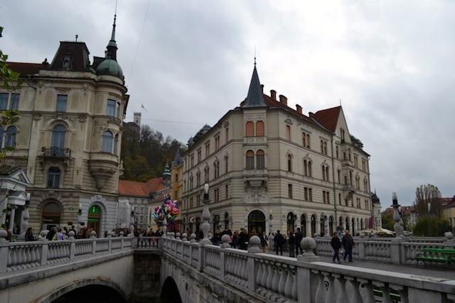 The three bridges in Ljubljana