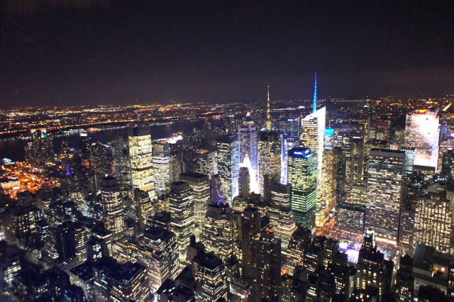 View From Top Of Empire State Building At Night