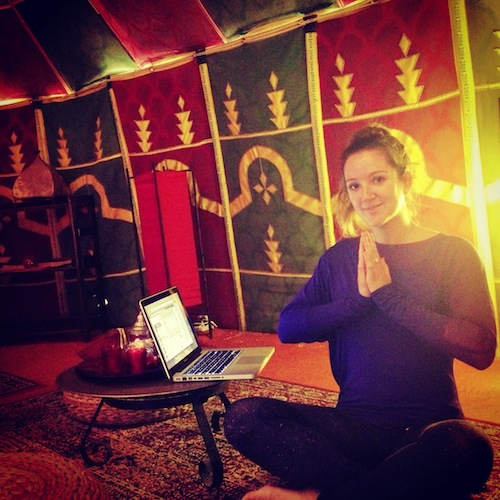 Hanging out in my Sahara Tent at my yoga retreat. Like you do.