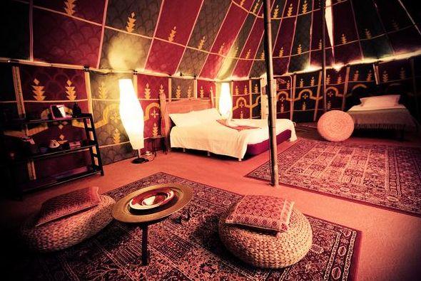 Sahara Tent at Azul Fit yoga retreat
