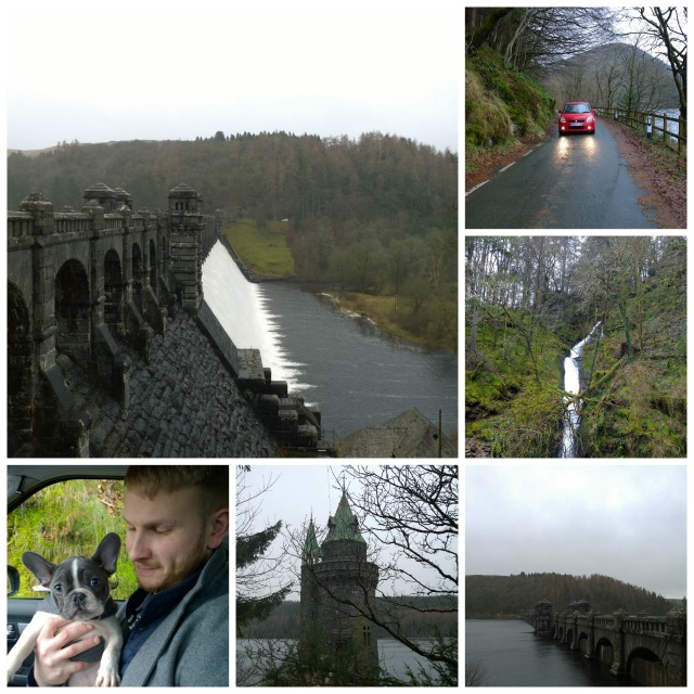 Driving around Lake Vyrnwy