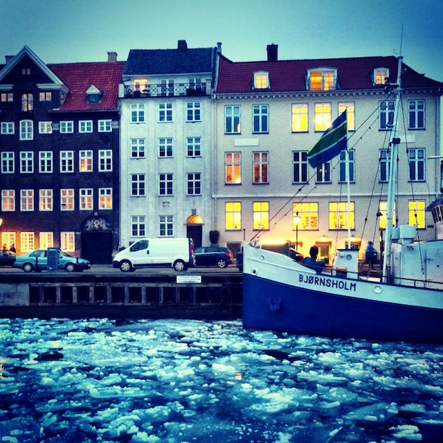 Icy weather in Copenhagen