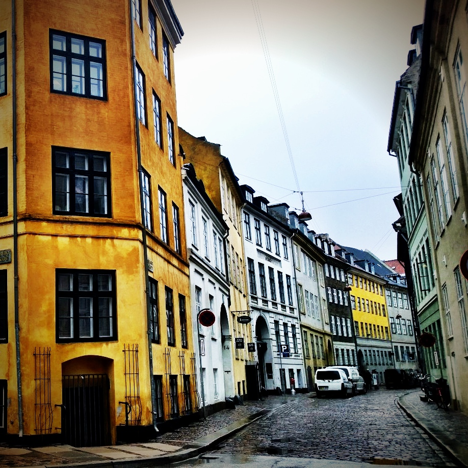 Pretty streets in Copenhagen