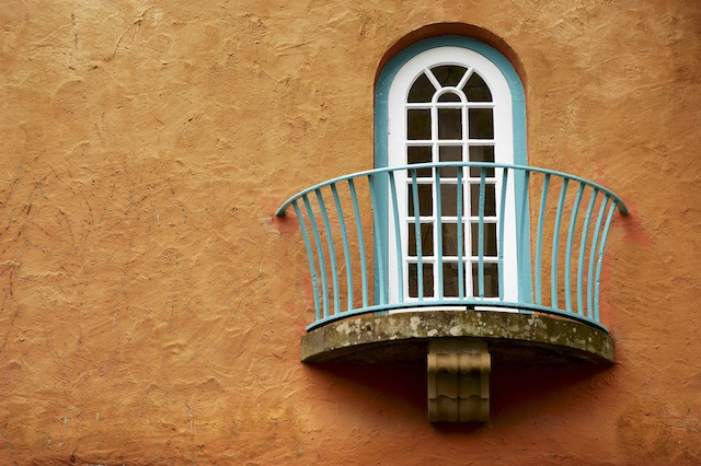 Portmeirion town hall window
