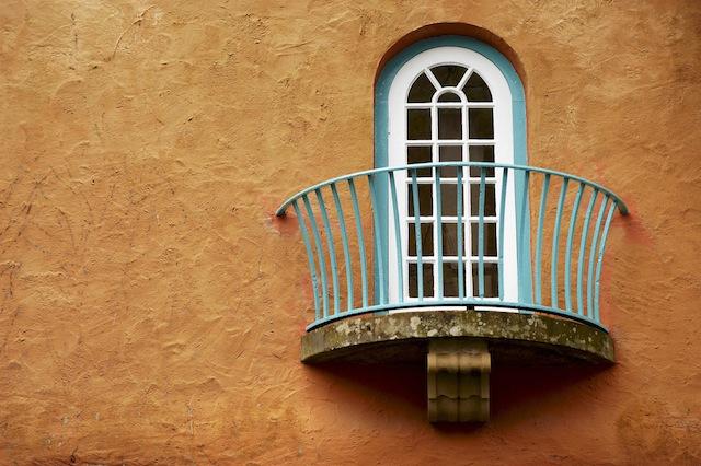 Portmeirion town hall window