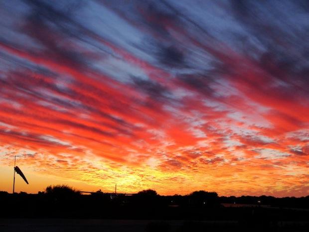 Sunset on Mackerel Island