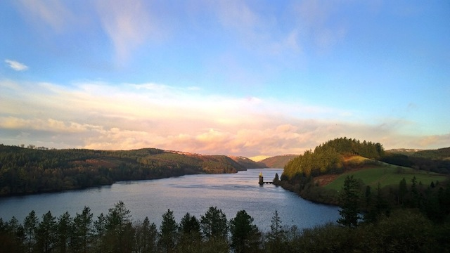 View from Lake Vyrnwy Hotel