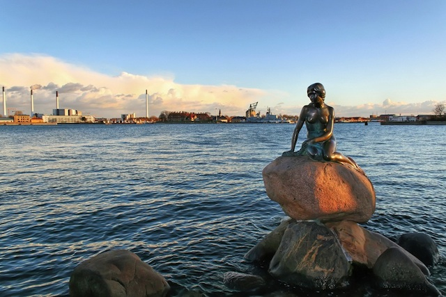 the Little Mermaid in Copenhagen, Denmark,