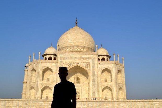 Man outside the Taj Mahal