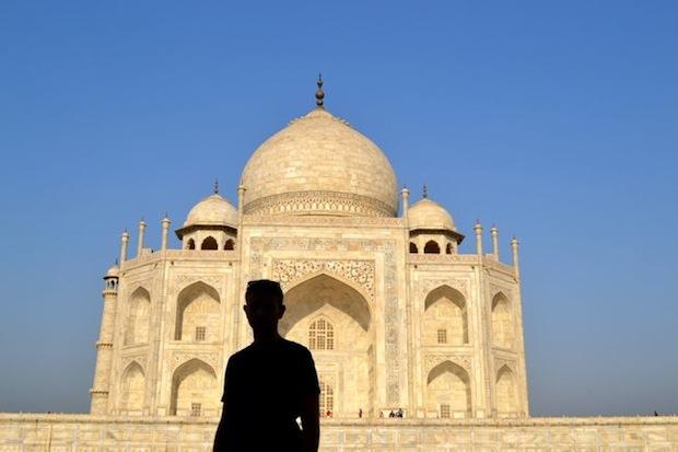 Man outside the Taj Mahal