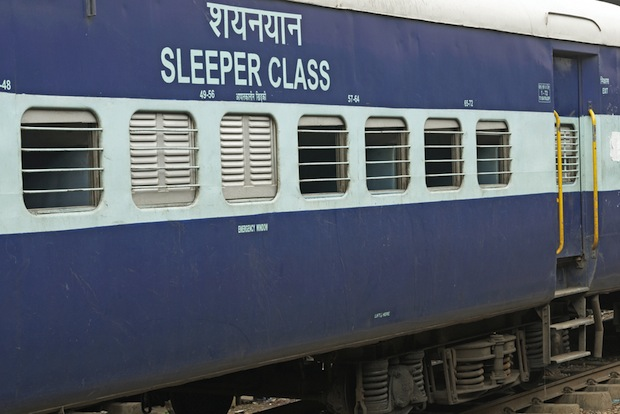 Sleeper class train in India