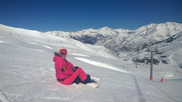 The Travel Hack snowboarding