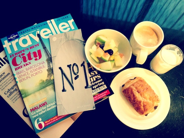 breakfast in the no.1 traveller lounge gatwick