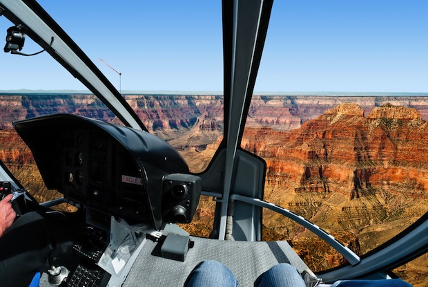 Helicopter over the Grand Canyon