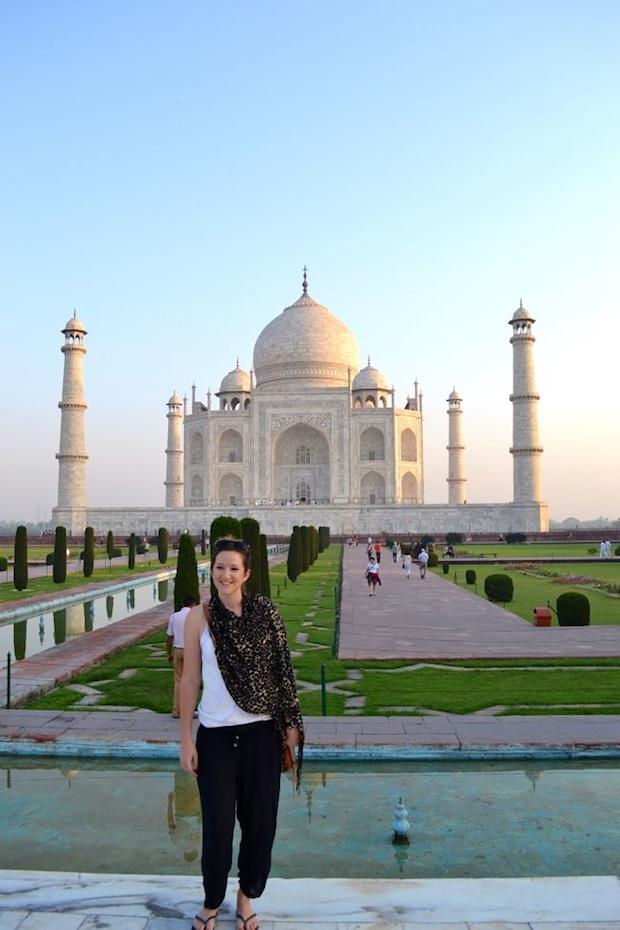 the travel hack at the taj mahal