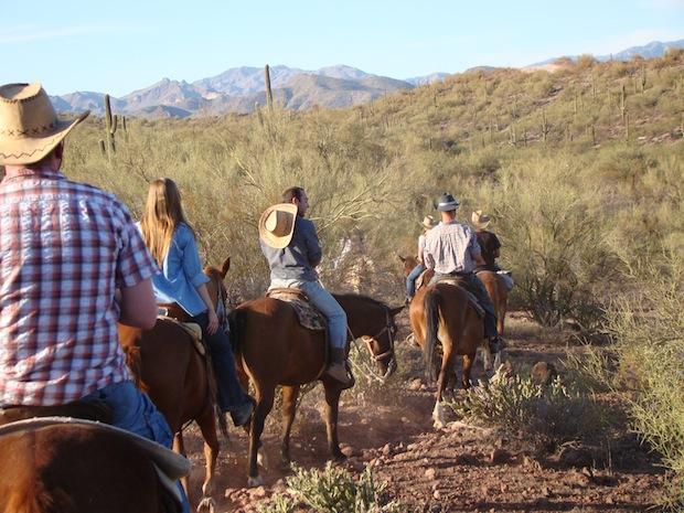 Horse riding with Trek America