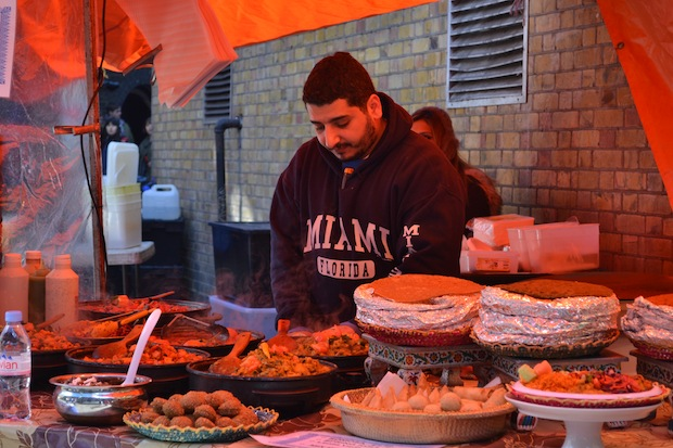 Asian food stall Brick Lane