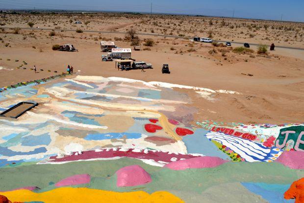 Desert surrounding Salvation Mountain