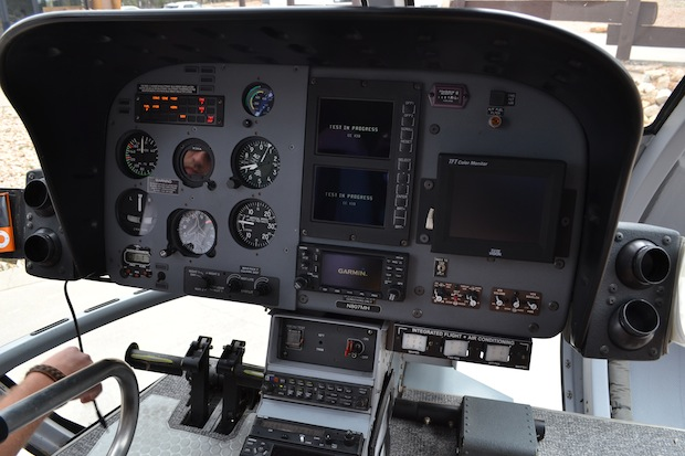 Grand Canyon helicopter cockpit