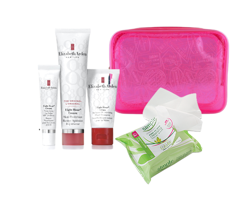 In flight beauty products