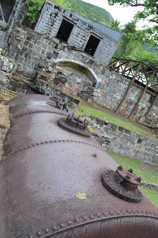 St Kitts distillery remains