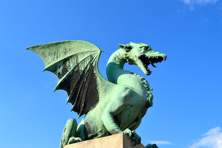 Dragon in Ljubljana