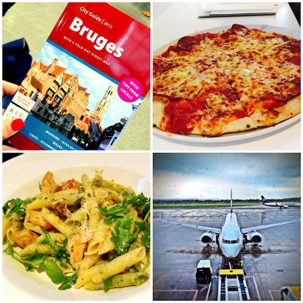 Flying to Bruges