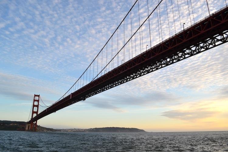 Golden Gate Bridge Sun set
